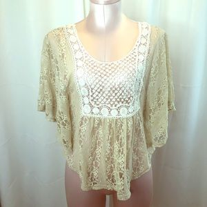 Staring at Stars Anthropologie Lace Boho Blouse